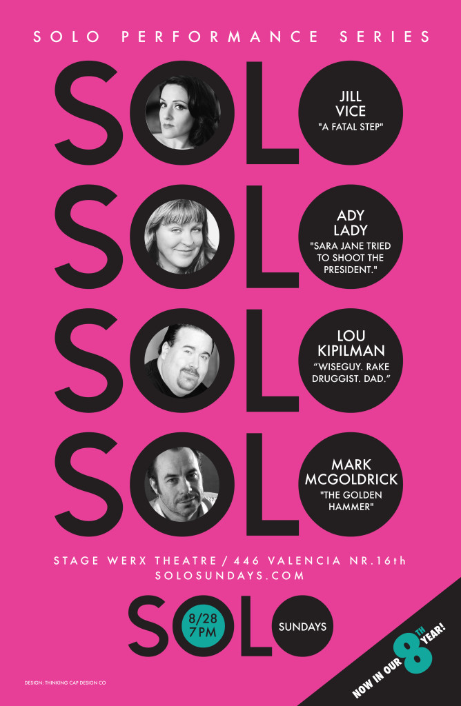 Aug 28, 2016 Solo Sundays poster