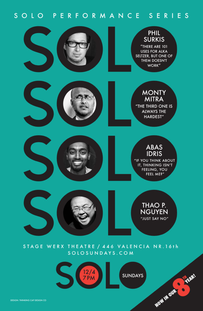 Dec 11, 2016 Solo Sundays poster