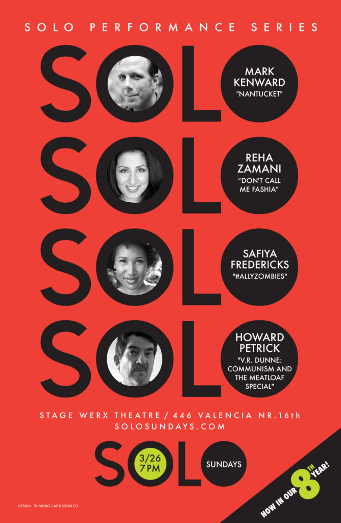 March 26, 2017 Solo Sundays poster